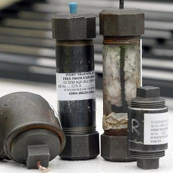 Police in Northern Ireland discovered three pipe bombs near Lisburn
