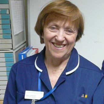 Jean Colclough is to retire after a 56-year career in nursing (PA/Southend Hospital)