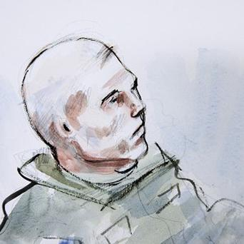 In this detail from a courtroom sketch, US army staff sgt Robert Bales is shown a preliminary military hearing in Washington state (AP)