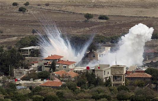 The Israeli Defence Force (IDF) responded to a shell landing in the Israeli-occupied Golan Heights for the second consecutive day.