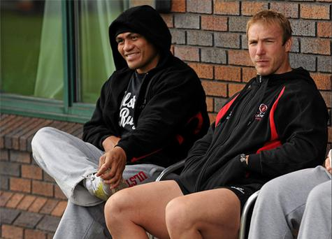Ulster back-row Ferris (right) was hopeful of returning to the side this month but that ambition was dashed over the weekend.