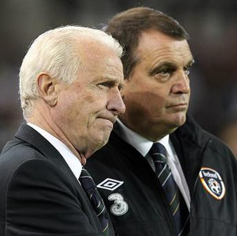 Marco Tardelli, right, insists Ireland have made real progress in 2012 under Giovanni Trapattoni, left