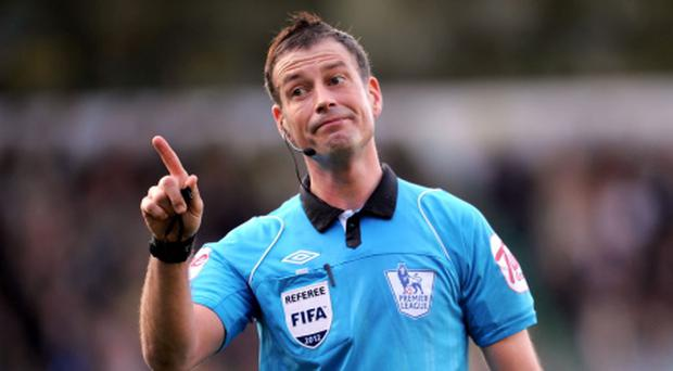 File photo dated 24/03/2012 of Mark Clattenburg. PRESS ASSOCIATION Photo. Issue date: Monday November 12, 2012. Mark Clattenburg returned to training with the top-flight Select Group of referees today for the first time since Chelsea's complaint against the match official. See PA story SOCCER Clattenburg. Photo credit should read: Jon Buckle/PA Wire