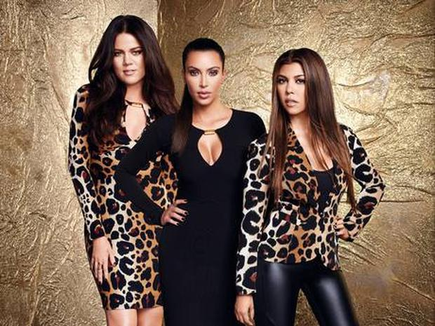 Khloe wears dress £45, Kim wears dress £40, Kourtney wears jacket £50, trousers £38, all Kardashian Kollection, available from dorothyperkins.com