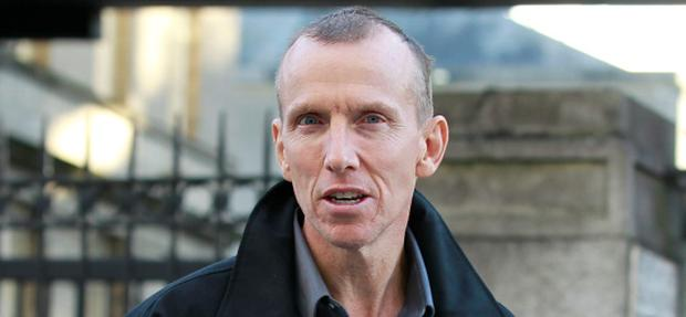 15/11/12John Nugent, leaving the Four Courts yesterday(Thurs) after he appeared before the High Court in relation to a European Arrest Warrant - he is wanted in England in relation to alleged VAT fraud.Pic: Collins Courts
