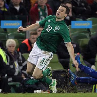 Seamus Coleman, pictured, was singled out for praise by Ireland manager Giovanni Trapattoni