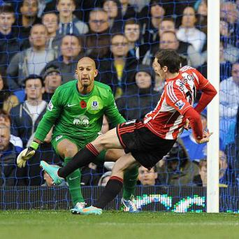 Adam Johnson, right, netted the opener in Sunderland's defeat to Everton
