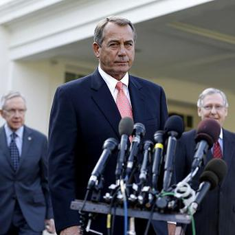 House Speaker John Boehner speaks to reporters following a meeting with President Obama to discuss the economy and the deficit (AP)