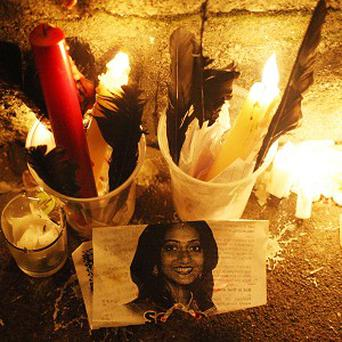 Candles outside Leinster House in Dublin, after thousands marched calling for legislation on abortion after the death of Savita Halappanavar