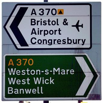 The Bristol Playbus broke down on the A370 on its way to Hewish near Weston-super-Mare