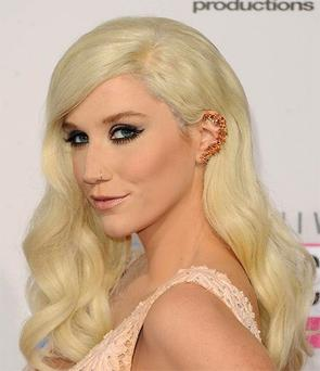 Singer Kesha attends the 40th American Music Awards.