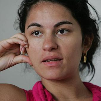 Late Brazilian model Eliza Samudio speaks during an interview in Rio de Janeiro, Brazil (AP/Felipe O' Neill-Agencia O Dia)