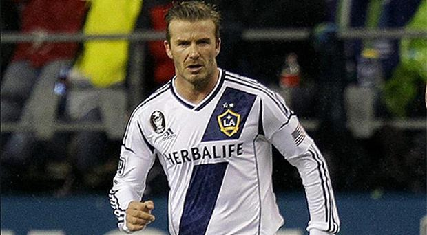 David Beckham in action for LA Galaxy