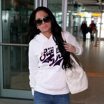 Tulisa Contostavlos has been in Newcastle visiting footballer Danny Simpson