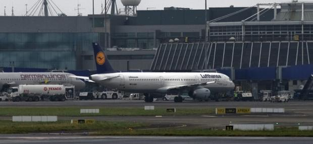 Friday 19 October 2012. Dublin Airport, Thomas Cook aircraft emergency landing.