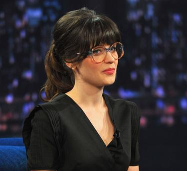 The actress wore the glasses for a skit on the Jimmy Fallon show
