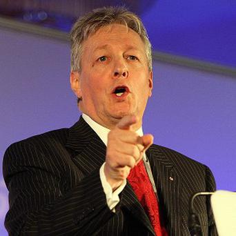 First Minister Peter Robinson.