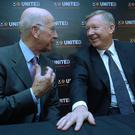 Bobby Charlton and Alex Ferguson