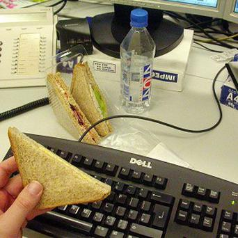 Messy colleagues and noisy eaters drive British office workers to distraction, a survey found