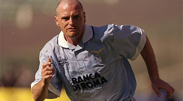 Paul Gascoigne was a big hit with the Lazio fans despite finding it difficult to adapt to life in Italy