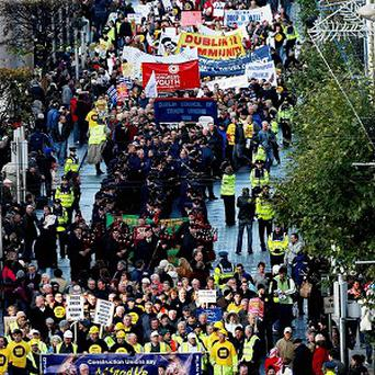 The public have been urged to take to the streets of Dublin on Saturday for a pre-budget demonstration