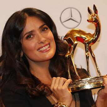 Salma Hayek won the Bambi for International Film Star