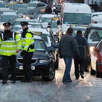 Motorists have been warned that if a road looks polished or glossy it could be black ice