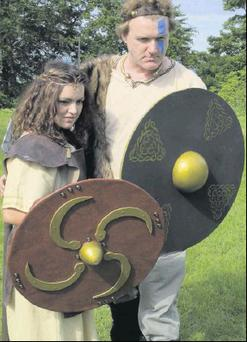 Queen Maeve (Helena Mullins) and Cúchulainn (Eoghan Whelan) will be attending the Dundalk Festival of Light and Culture.