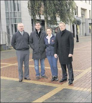 Earl Street traders William McGee, Conor McKenna, Sarah Murphy and Jim McDonnell.