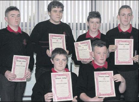 Conor McGee, Michael Gray, Ryan Lane, Aidan Wilson, Gavin Shields and Darren Fergus who were all award winners.