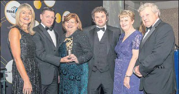 Pictured at the Irish Healthcare Awards 2012 in the Shelbourne Hotel, Dublin, November 1, were from left to right: Mairead Kyne, communications manager, Boehringer Ingelheim (award sponsors); Conor Healy, manager, Mallow Primary Healthcare Centre, and...