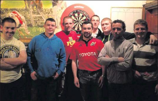 The Sully's of Donaghmore darts team that played Boss Murphy's of Churchtown in week three of the North Cork Darts League
