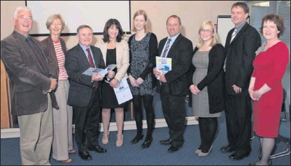 At the research journal launch at the County Wexford Education Centre in Enniscorthy were (from left): Eamonn Barrett (Chairperson, County Wexford Education Centre), Paula Carolan (Director), Minister Brendan Howlin, Celia Walsh (Colloquium...