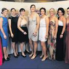Wexford's All Star nominees (from left): Josie Dwyer, Karen Atkinson, Kate Kelly, Fiona Rochford, Noeleen Lambert, Catherine O'Loughlin, Deirdre Codd, Katrina Parrock, Claire O'Connor, Ursula Jacob and Mags D'Arcy at the awards ceremony in the CityWest...