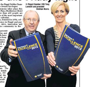 Fingal Chamber CEO Tony Lambert and president Siobhan Moore.
