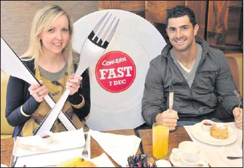 Rob Kearney was joined by Ger Carroll from Rush to launch the 2012 Concern Fast. The Fast is Concern's longest running fundraiser and this year takes place on Friday, December 7, when thousands of people will go without food for 24 hours to raise funds...