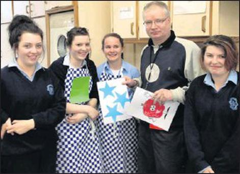The 'Ready, Steady Cook' winners pictured with teacher, John Enright during Health Week at St. joseph's Presentation Secondary School are from left: Amy King, Grainne Murphy, Sharon Breen and Kirstin Clader.