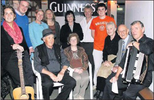Members of the cast of John B at 10 pictured at a rehearsals night at John B Keane's Bar in Listowel. Seated are: Batt O'Keeffe, Mary Keane, Noreen O'Leary, Danny Hannon, director and John Kinsella. Back row: Mary Moylan, Jerry Hannon, Kathy Healy,... Credit: Reidy Photo by John