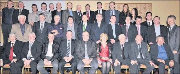 Members and represenatives of the Lispole team of the 1980s who won six West Kerry Championships from 1982-1987.