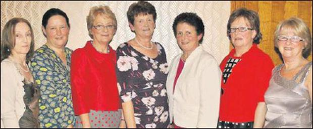 Dingle Hospital staff who celebrated their retirements in the Skellig on Friday night. From left, Jacinta O'Hanlon, Brenda O'Connor, Mary Barrett, Mary Fitzgerald, Elizabeth Devane, Mary Greaney and Maria Kavanagh. Credit: Photo by Marian O'flaherty
