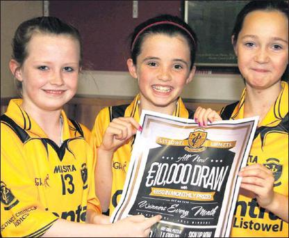 Our future: Club members, Lauryn Griffin (left) pictured with Cliona Pierse and Aimee Mason at the launch of the Listowel Emmets GAA Club €10,000 monthly draw at the clubhouse recently. Credit: Photo by John Reidy