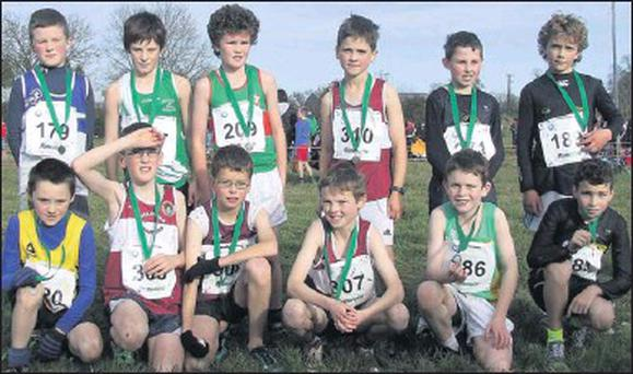 Luke Byrne of Adamstown A.C. (front row, extreme left) finished in sixth position in Leinster to go forward to represent Wexford on the Leinster team in the national cross-country championships to be held in Adamstown on December 9.