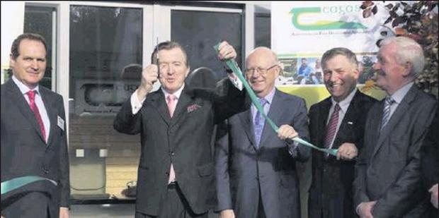 Junior Minister John Perry officially opens the newly extended and renovated Teagasc centre in Ballymote. Included from left are Ben Wilkenson, Acting Regional Manager, Professor Gerry Boyle, Director, Teagasc, Dr. Noel Cawley, Chairperson, Teagasc,...