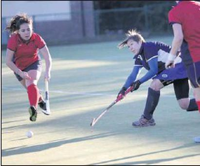 Bray's Gill Carty clears a Botanic attack.