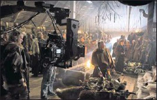 A scene form the new series of 'Vikings' being shot at Ashford Studio in Ballyhenry.