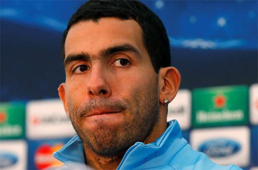 Manchester City's Tevez. Photo: Reuters
