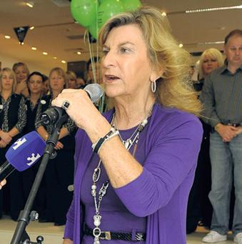 A file picture of Dunnes Stores supremo Margaret Heffernan opening a store in Patrick St., Cork, in 2009.