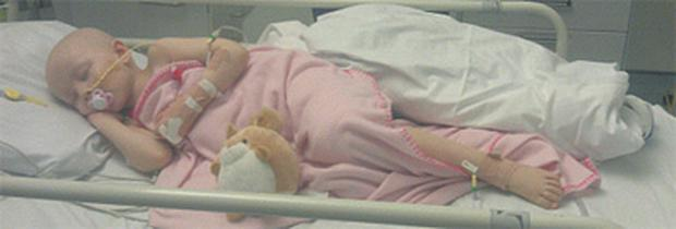 Lily-Mae Morrison, who is recovering after surgery to remove seven tumours.