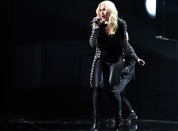 Singer Gwen Stefani is in her forties and not afraid to wear leather.