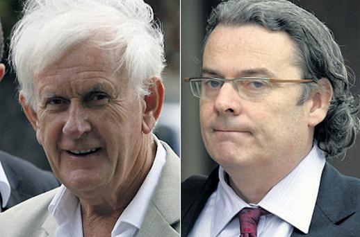 Developer Paddy Kelly (left) revealed the deep stress that Hugh O'Regan (right) had been under in recent months